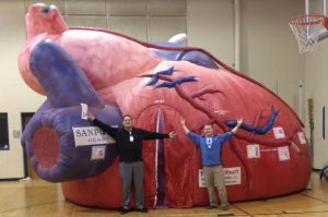 The mega heart display, provided by Sanford Heart, will be at Huron Arena Feb 19th.